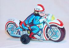 Modern Toys Japan PD POLICE MOTORCYCLE 15cm! Tin Friction Toy 100% Mint`68 RARE!