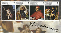 Micronesia Art Stamps 2012 MNH Raphael Sistene Madonna Paintings 4v M/S