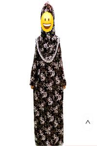 Muslim Girls Dress Islamic Abaya Long Sleeve Clothing Hijab Prayer Jilbab Arab