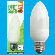 10x 9W Low Energy CFL E27 Candle 5600K Daylight White, SAD, ES, Light Bulb Lamp