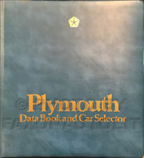 1983 Plymouth Data Book Dealer Album Voyager Gran Fury Reliant Scamp Colt Etc