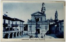 Cartolina Formato Piccolo – Carignano - Piazza Regina Margherita Viaggiata