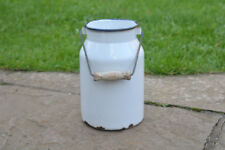 Vintage enamel milk churn can milkchurn milk pot   - 2L  - FREE POSTAGE