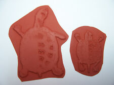 2 Turtle Unmounted Rubber Art Stamps for Papercrafts, Stamping, Collages & Cards