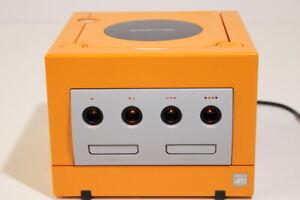 Nintendo Gamecube Console Only Orange XENO Region Free LED Mod GC311M