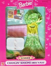 Barbie Changin' Seasons Dress & Play - Summer Outfit + Picnic Accessories (1997)