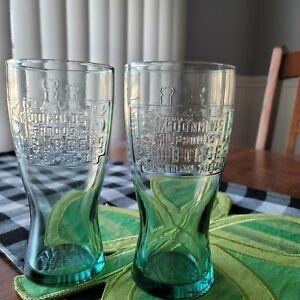 SET OF TWO RETRO 1948 MCDONALDS 15 CENT FAMOUS HAMBURGER GLASSES