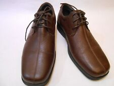 Claiborne SEYMOUR Men Leather Loafers Laces Up Casual Dress Shoes Size 10 Brown