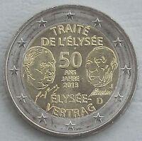 2 Euro Deutschland J 2013 Élysée-Vertrag unz