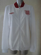 ENGLAND ANTHEM FOOTBALL JACKET WHITE Media Jacket UK Size Medium NEW