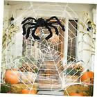 Halloween Decorations - 12 FT Giant Round Spider Web and Fake Large Hairy