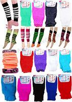 CHILDREN PLAIN RIBBED LEG WARMER LEG WARMER TUTU FANCY DRESS PARTY COSTUME