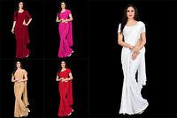 Saree Blouse Bollywood Indian Pallu Skirt Pakistani New Colors Sari Running