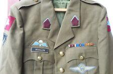 BELGIQUE - ARMEE BELGE - REGIMENT PARA-COMMANDO -  SERVICE DRESS + INSIGNES