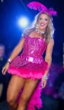 Pink Sequin Flamingo Showgirl Sexy Adult Costume Halloween Cosplay Roleplay