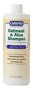 Davis Oatmeal and Aloe Dog Cat Pet Shampoo 12 oz. 355ml
