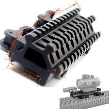 Tactical Picatinny Rail Riser Mount 90 & 45 degree QD 13 Slots Rails Adapter