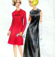 """Vintage 60s DRESS Sewing Pattern Bust 38"""" Sz 14 COCKTAIL Evening MOSTLY UNCUT"""