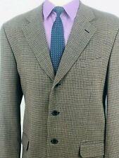 42L Chiavari Italy 1881 Cerruti Mens 3 Bttn Wool Blazer Jacket Beige Tan Exc!