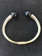Vintage KJL Kenneth Jay Lane Spring Hinge Bracelet Cuff Bracelet Lucite Ends