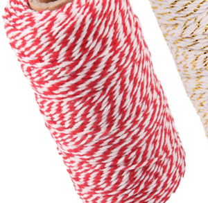 2 Pieces Christmas Twine Jute String Rope Cotton Twine for DIY Craft Christma