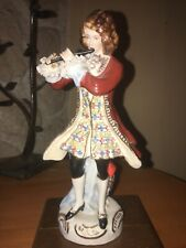 Statuette Porcelaine De Meissen Signée Le Joueur De Flûte