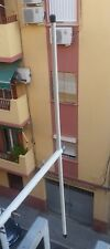 Antena bibanda triple bazooka  VHF/UHF para balcón o mástil (Dual Band antenna)