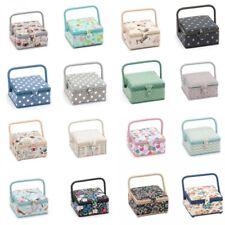 Hobbygift Small Square Sewing Basket Craft Hobby Sewing Box