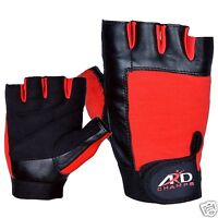 ARD Weight Lifting Gloves Strengthen Training Fitness Gym Exercise Workout B-Red