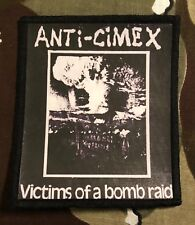 Anti-Cimex Victims Of A Bomb Raid Printed Patch A038P Crass Discharge