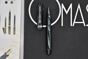 OMAS Old Style Paragon Extra Arco Green (Verde) Celluloid Rollerball Pen LE 5/6