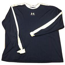 Under Armour Heat Gear Men's Shirt Size XL Long Sleeve Blue White UA Sport Run