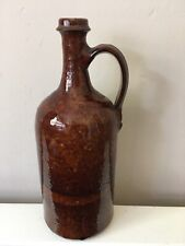 Vintage Earthenware Bottle Glazed