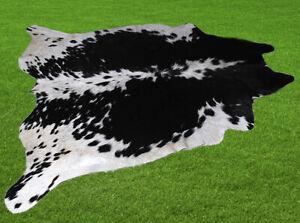 "New Cowhide Rugs Area Cow Skin Leather 21.77 sq.feet (57""x55"") Cow hide U-4872"