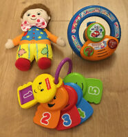 Baby Bundle Fisher Price Counting Keys,Mr Tumble & Vtech Explore Steering Wheel