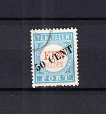 Nederland Port 28 overdruk 1906 gestempeld