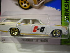 Hot Wheels '70 Chevelle SS Wagon HW Workshop Hurst White!!