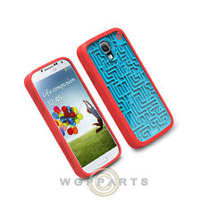 Samsung Galaxy S4 PureGear Gamer Case A-Mazing Blue/Red  Cover Shield Shell