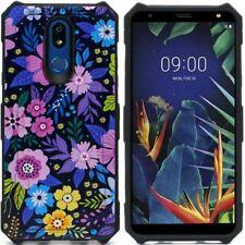 For LG Harmony 3/K40 Multi-Color Elegant Flower Hard Hybrid Case Cover