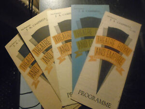 1944 Theatre Royal and Empire Peterborough, Joblot 5 Programmes, All from 1944