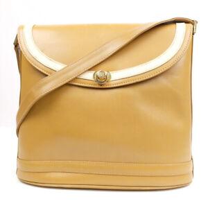 BALLY Shoulder Bag Leather Dark Beige