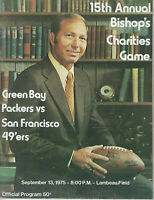 1975 Green Bay Packers vs SF 49ers program Bart Starr Cover 9/13/75 Bishop's