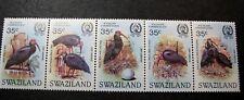 Swaziland Stamps Scott# 448 Bald Ibis 1984 Strip of 5 MNH C452
