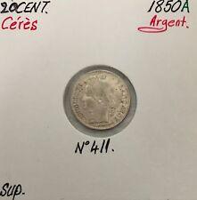 20 CENTIMES CERES - 1850A - Pièce de monnaie en Argent // SUP