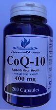 CoQ-10 400mg 200 Capsules Coq10 Co Q10 Coenzyme Cardio Heart Health Gluten FREE
