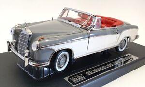 Sun Star 1/18 Scale Model Car 3575 - 1958 Mercedes Benz 220 SE - Grey/White