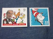 Theodor 'Dr Seuss'  Geisel stamps  #3835 & 3187h