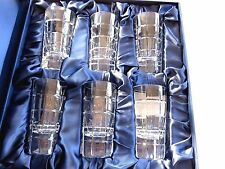"""New in Box Faberge Metropolitan 4"""" Vodka Shot Glasses Set of 6 with tags"""