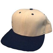 Vintage? New Era White & Blue Blank Baseball Hat / Cap. Made in USA Snapback M-L