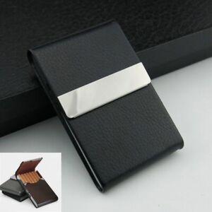 Porta sigarette slim Portasigarette nero in metallo PortaSigarette da tasca uomo